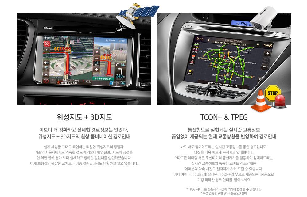 위성지도 및 3D지도, TCON+와 MBC TPEG 설명